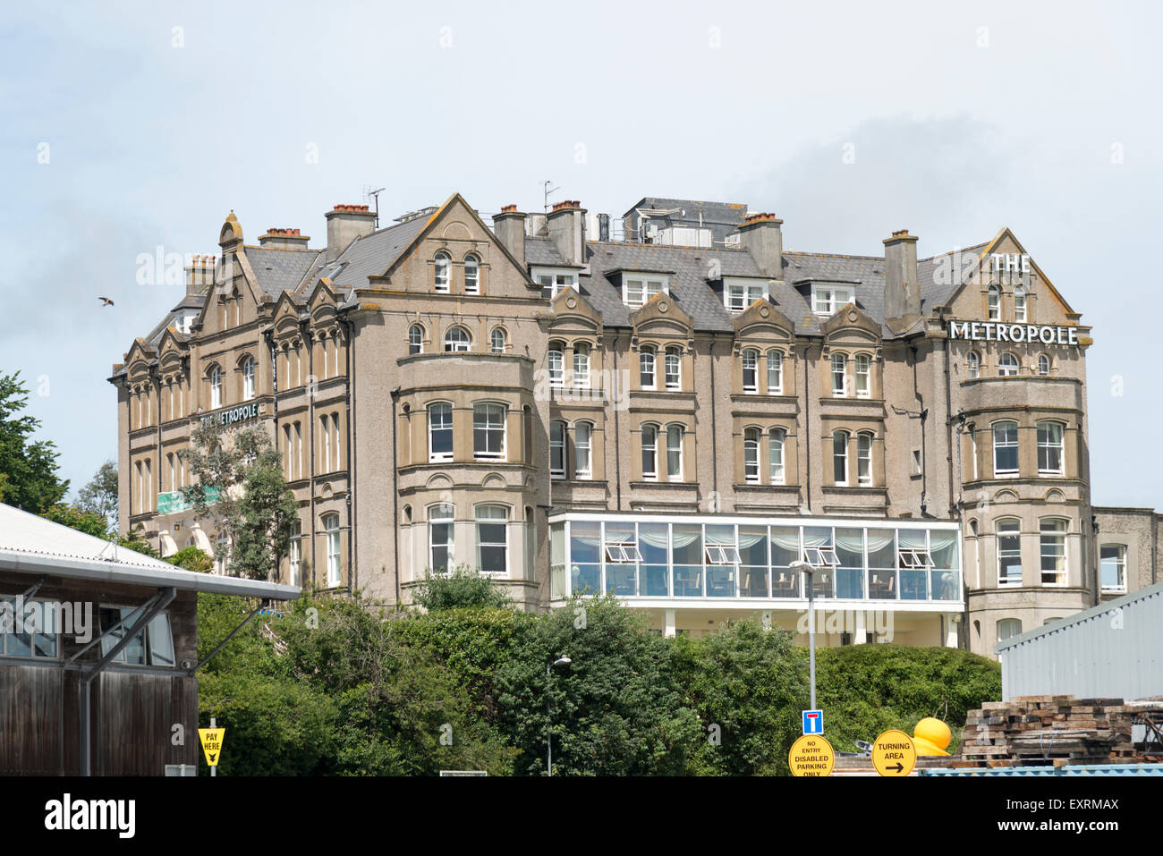 The Metropole Hotel Padstow Cornwall UK - Stock Image