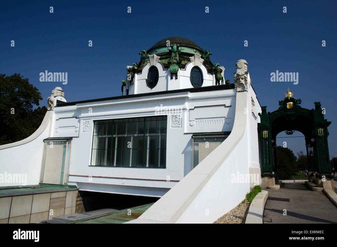 U4 hietzing u bahn station kaiser pavilion vienna austria - Stock Image