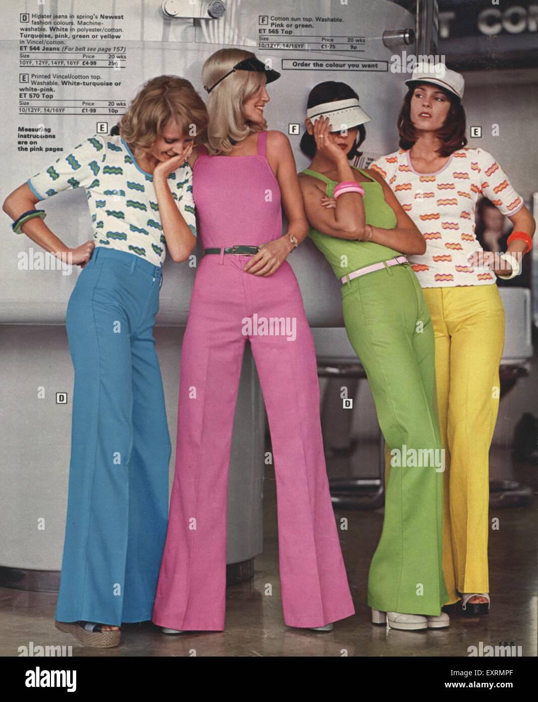 1f6b24cdc3 1970s UK Womens Fashion Catalogue/ Brochure Plate Stock Photo ...