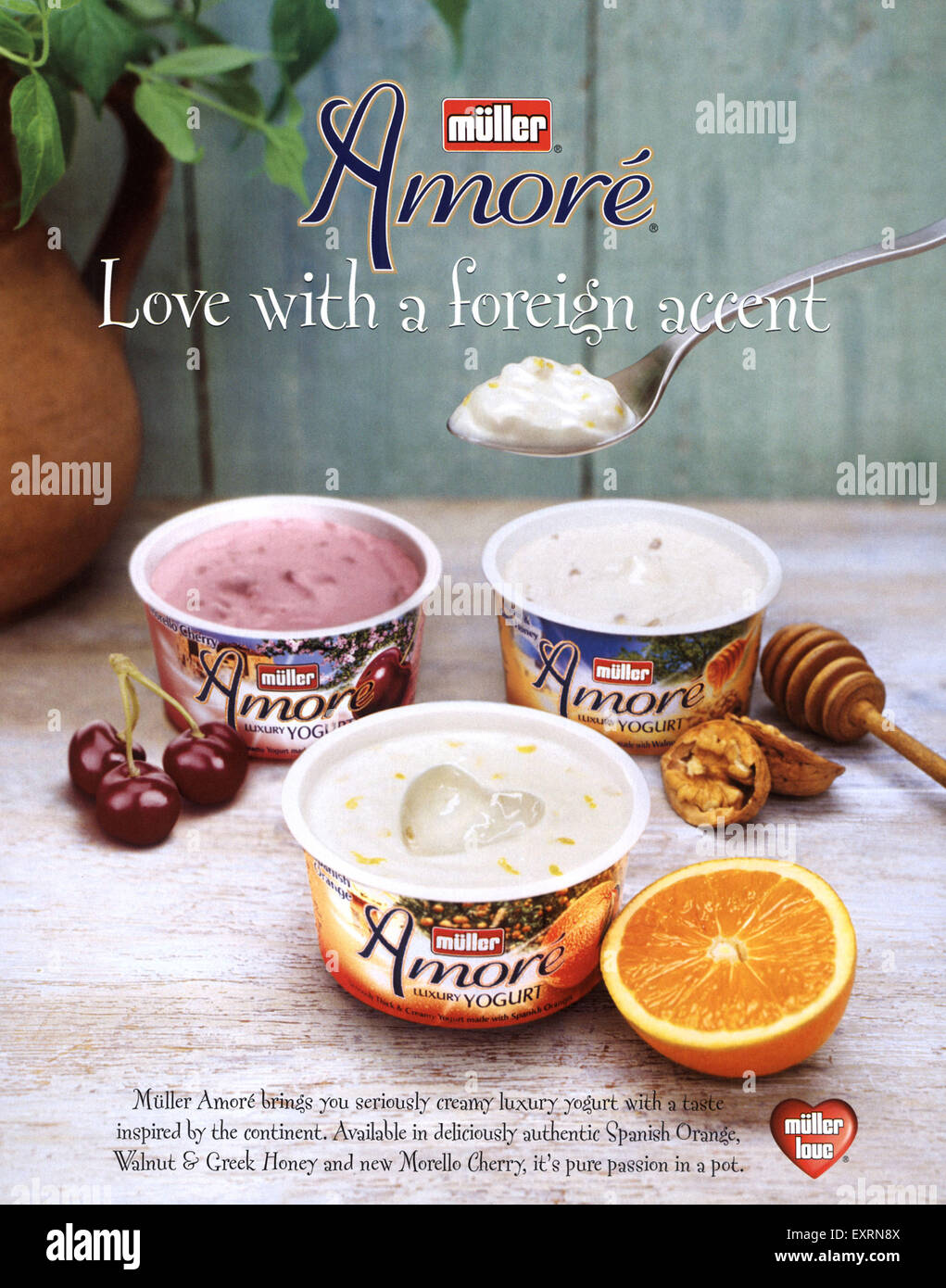 2000s UK Muller Amore Magazine Advert - Stock Image