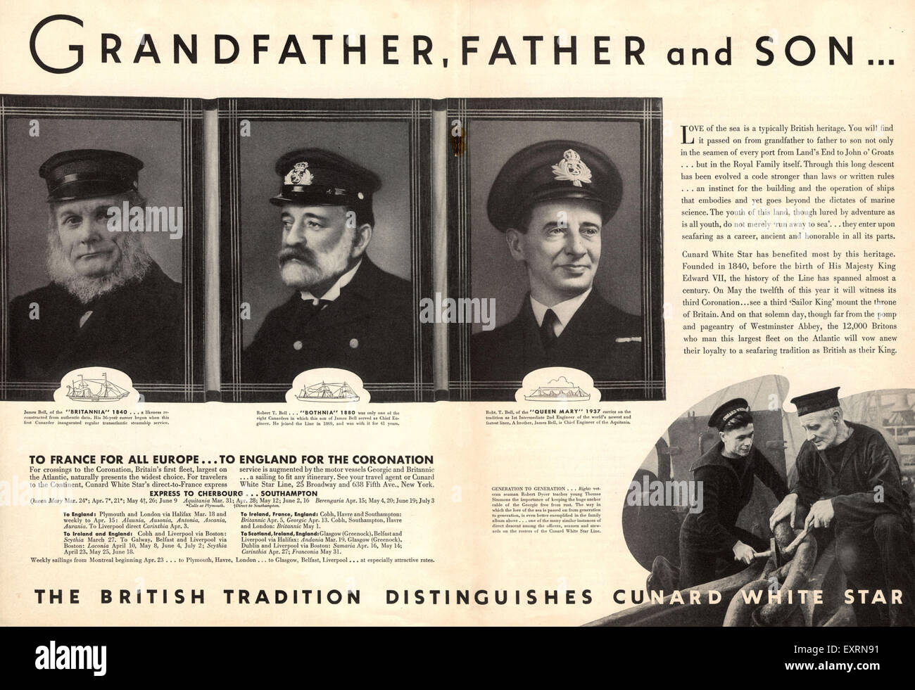 1930s UK White Star Line Magazine Advert - Stock Image