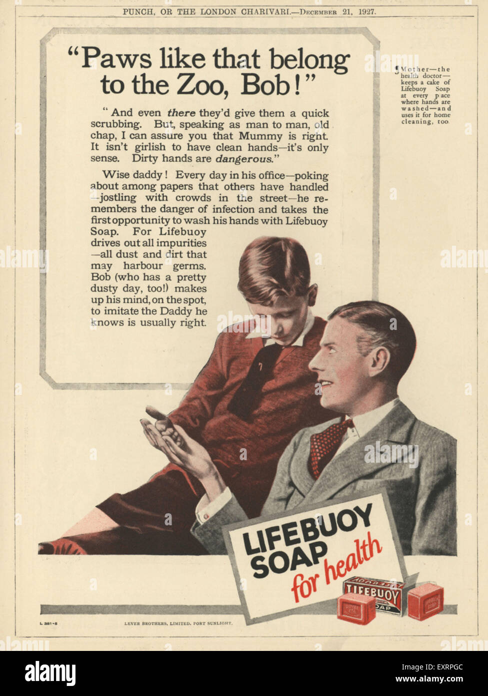 1920s UK Lifebuoy Magazine Advert Stock Photo