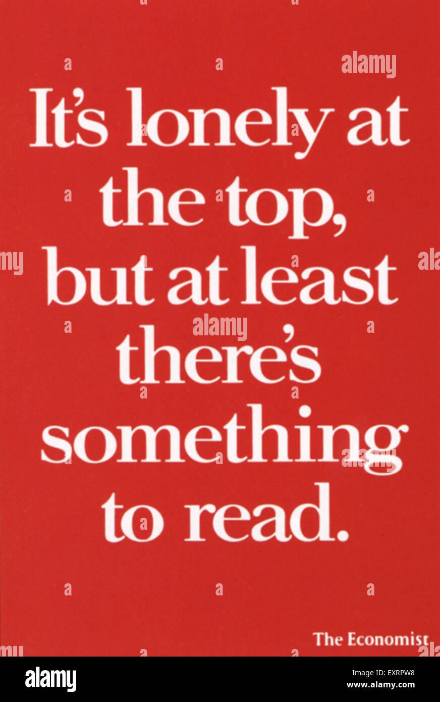 1990s UK The Economist Poster - Stock Image