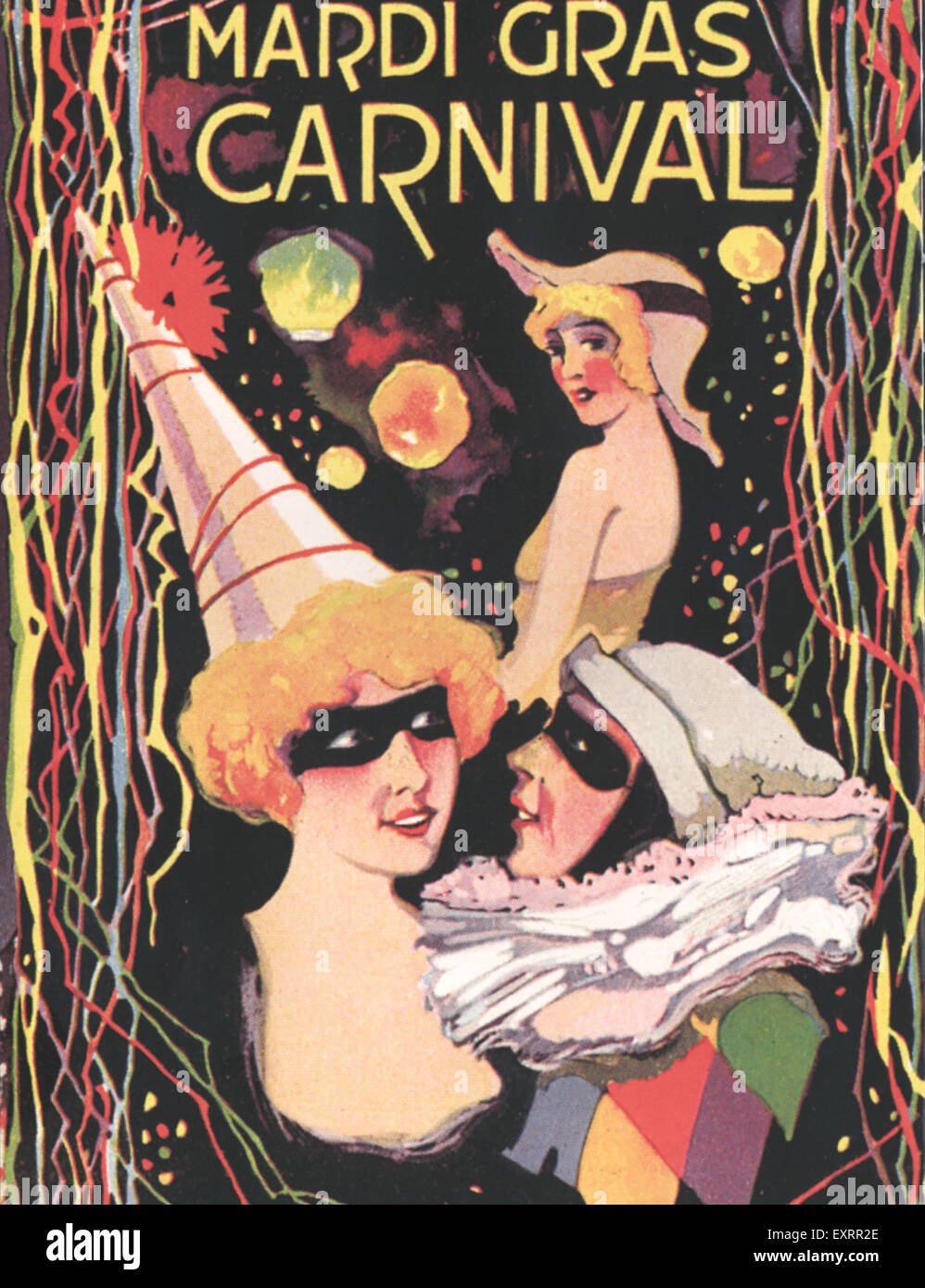 1920s USA Mardi Gras Magazine Advert - Stock Image