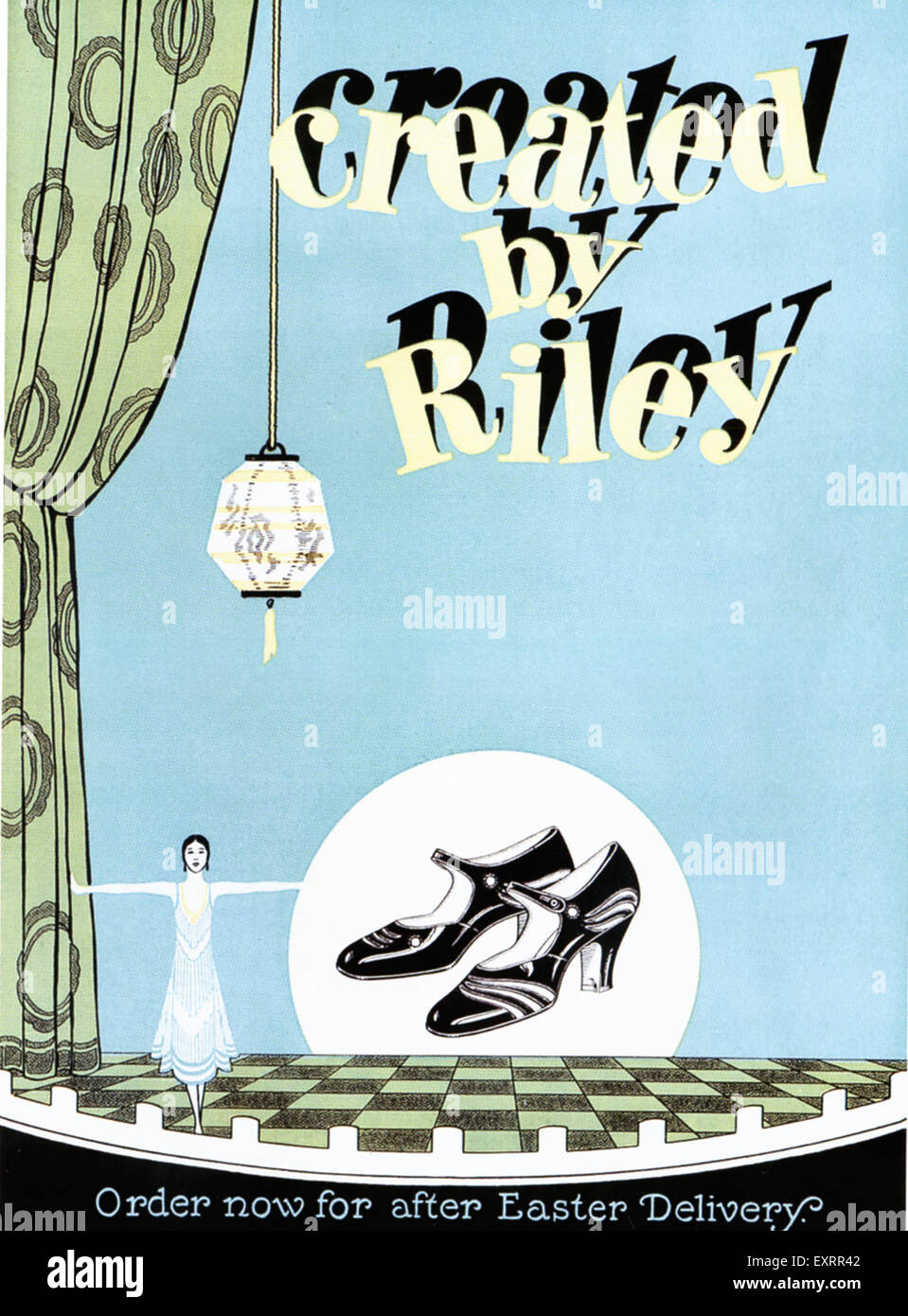 1920s USA Riley Magazine Advert - Stock Image
