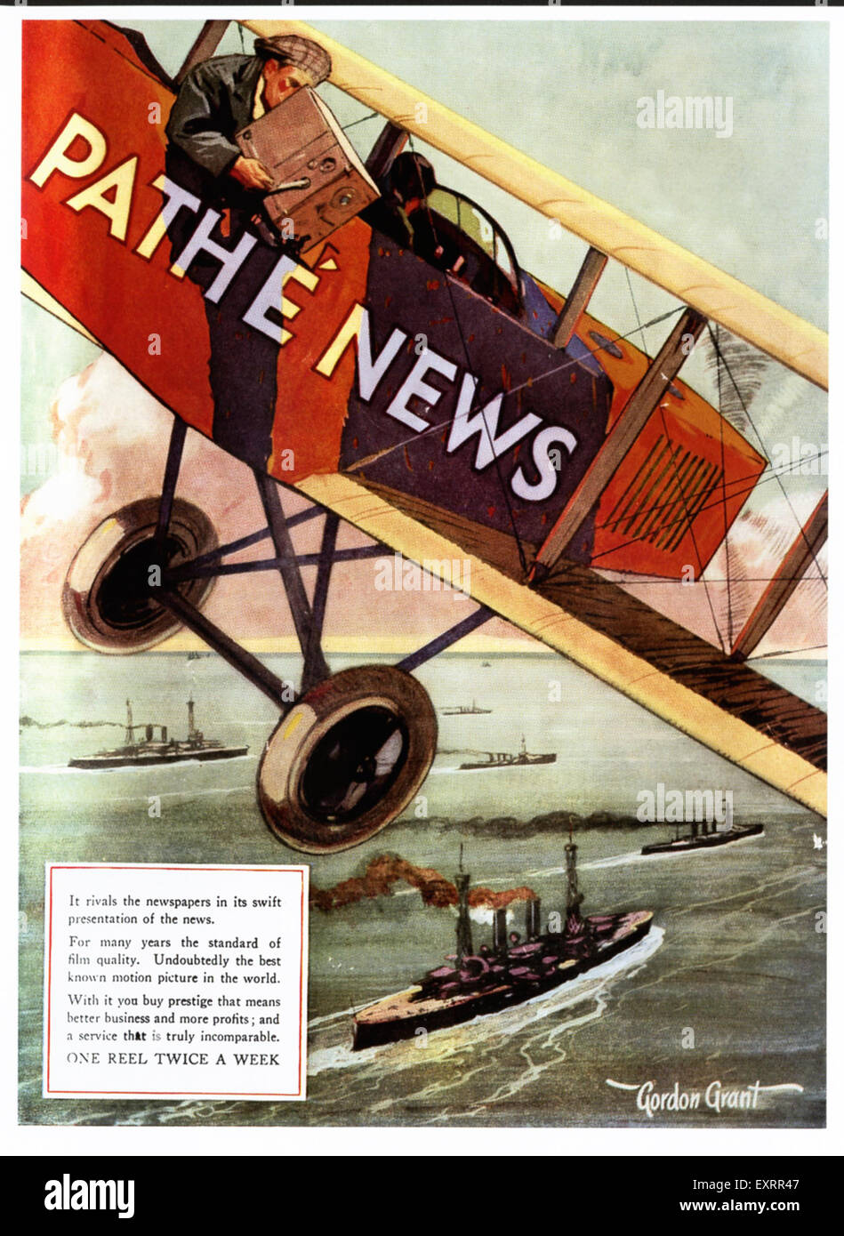 1920s USA Pathe News Magazine Advert - Stock Image