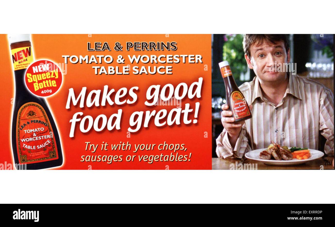 2000s UK Lea and Perrins Magazine Advert - Stock Image
