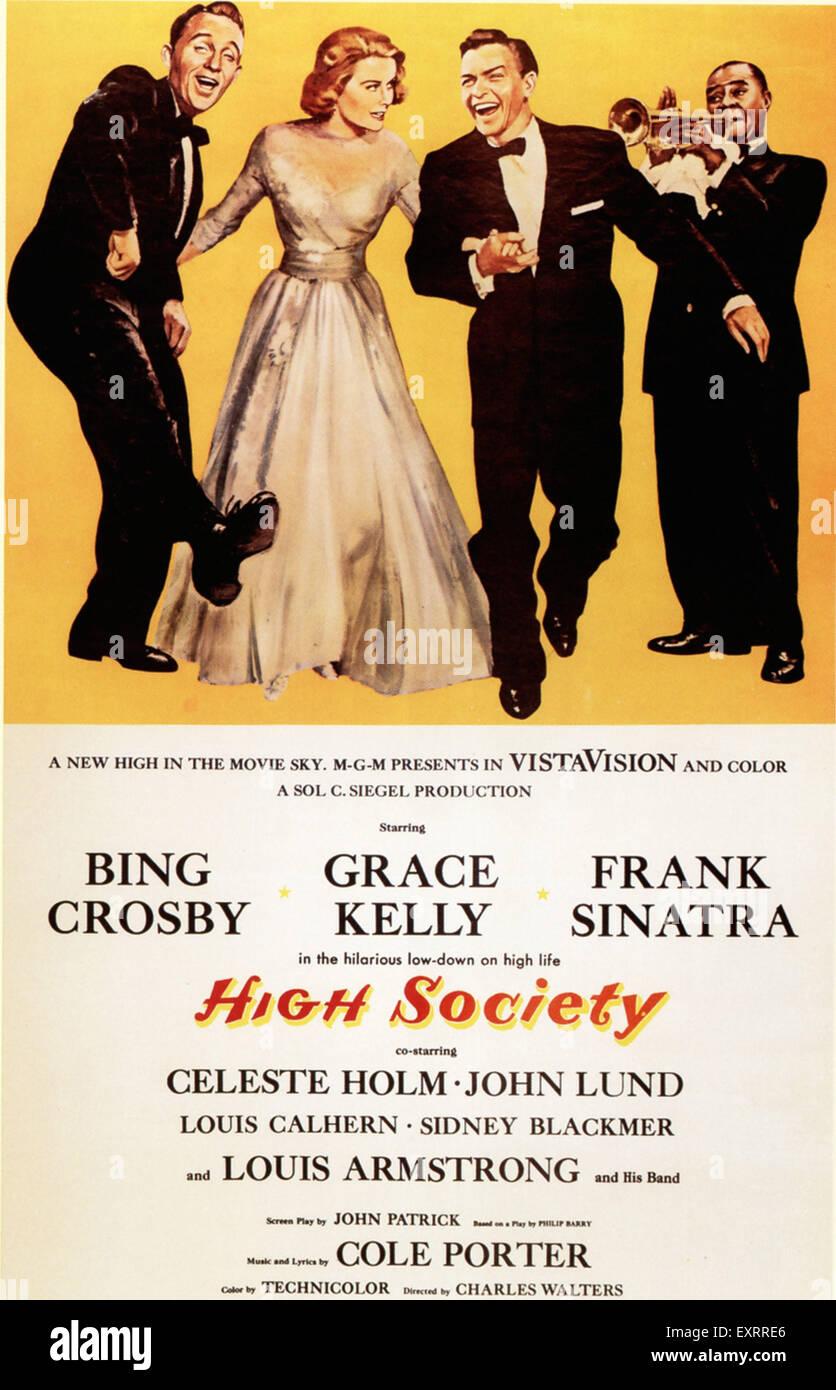 1950s USA High Society Film Poster - Stock Image