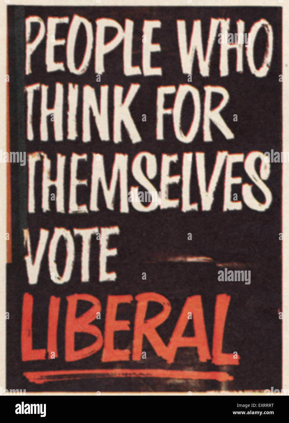 1960s UK The Liberal Democrats Poster - Stock Image