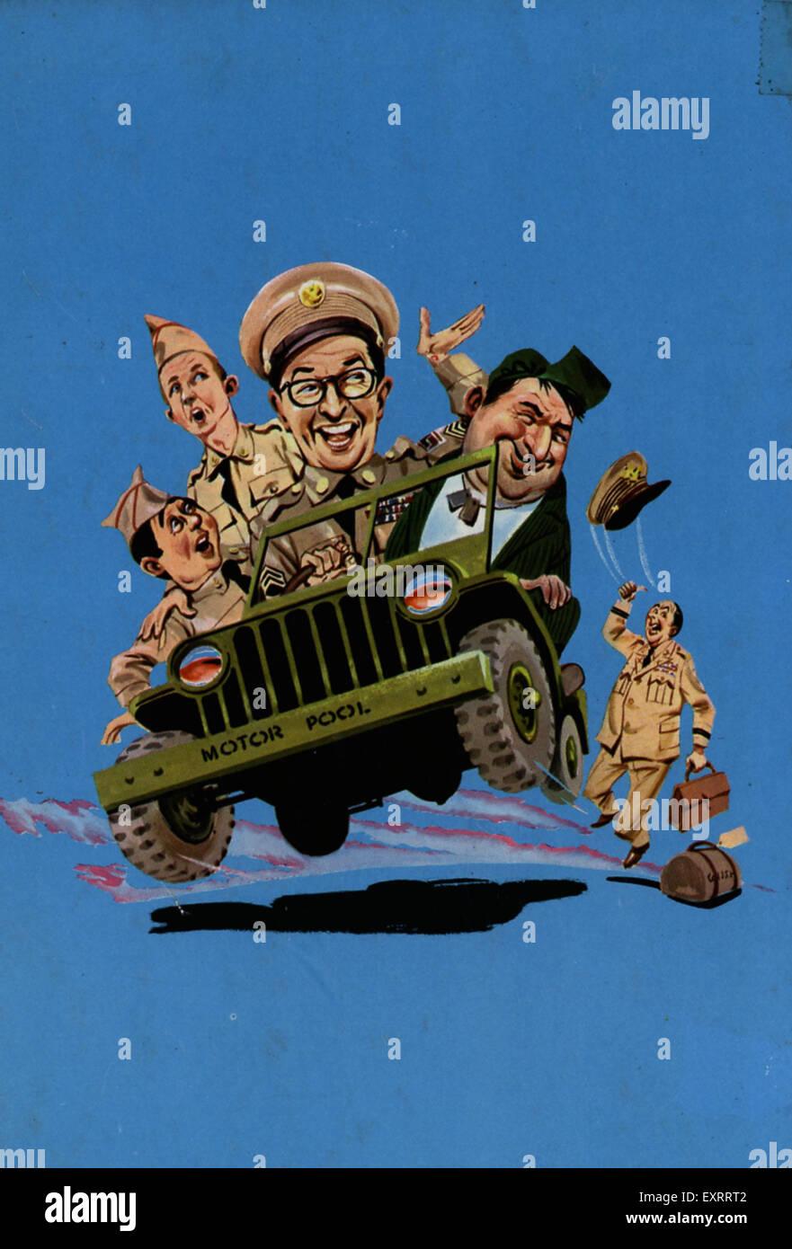 1960s UK Sergeant Ernie Bilko Comic/ Annual Cover - Stock Image