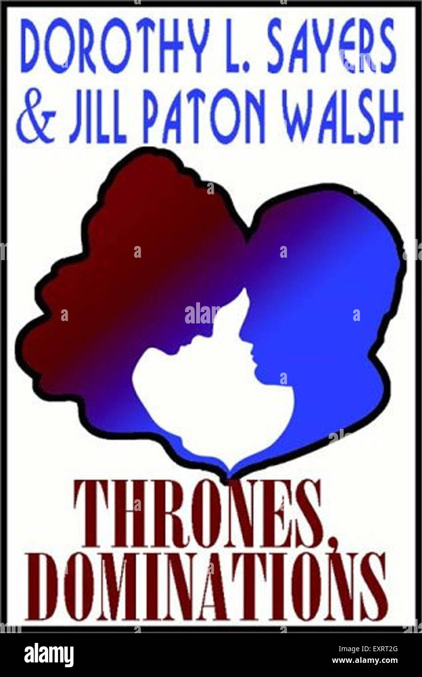 1990s UK Thrones Dominations Book Cover - Stock Image