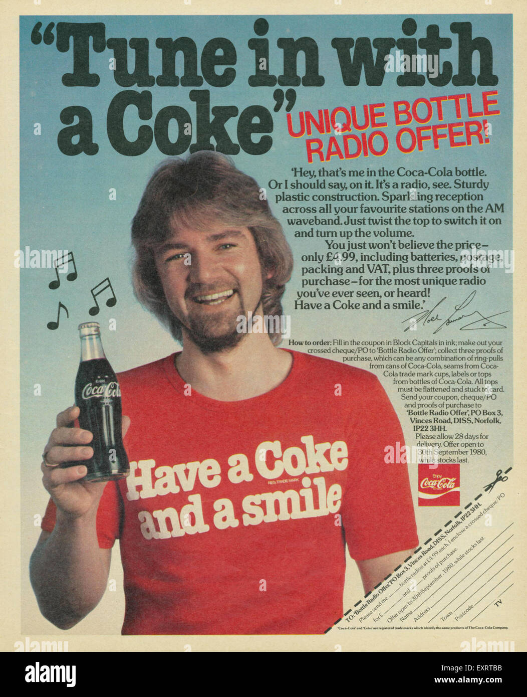 1970s Uk Coca Cola Magazine Advert Stock Photos & 1970s Uk
