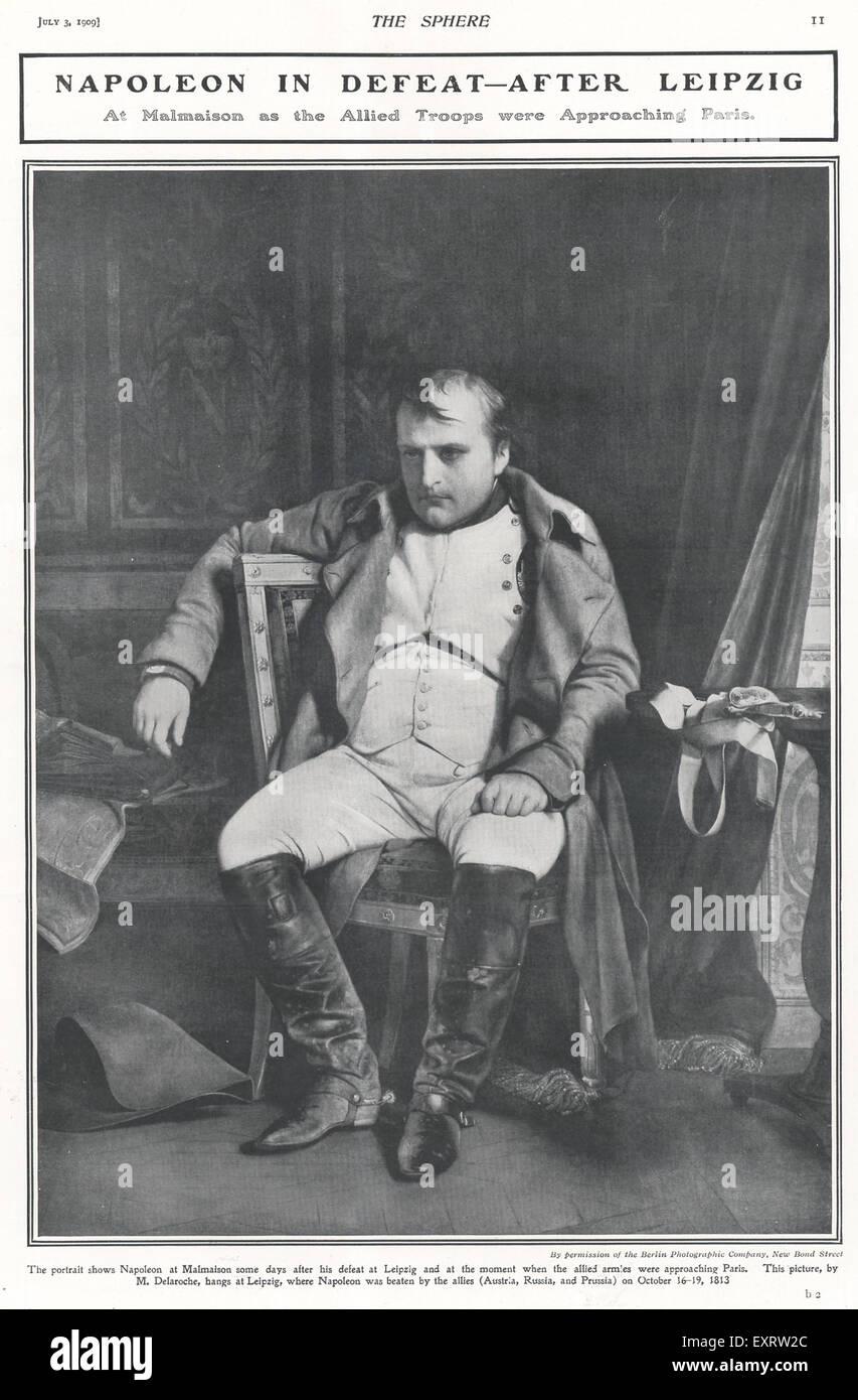 1860s UK Napoleon Magazine Plate - Stock Image
