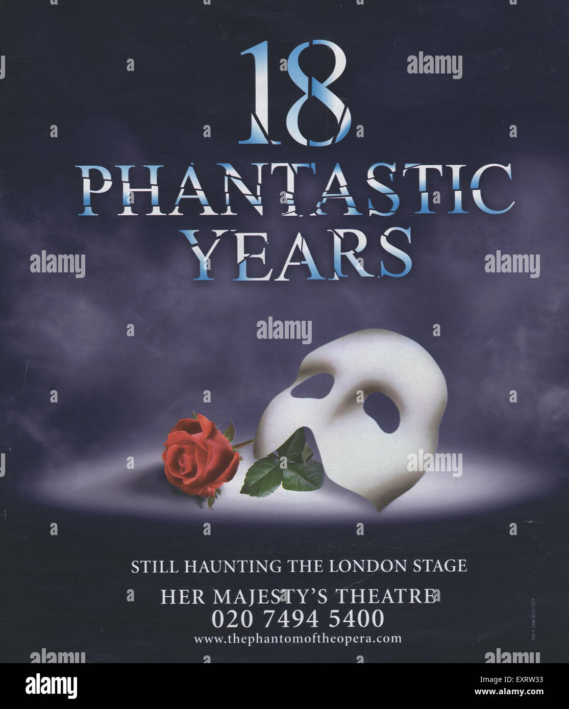 2000s UK Phantom Of The Opera Magazine Advert - Stock Image