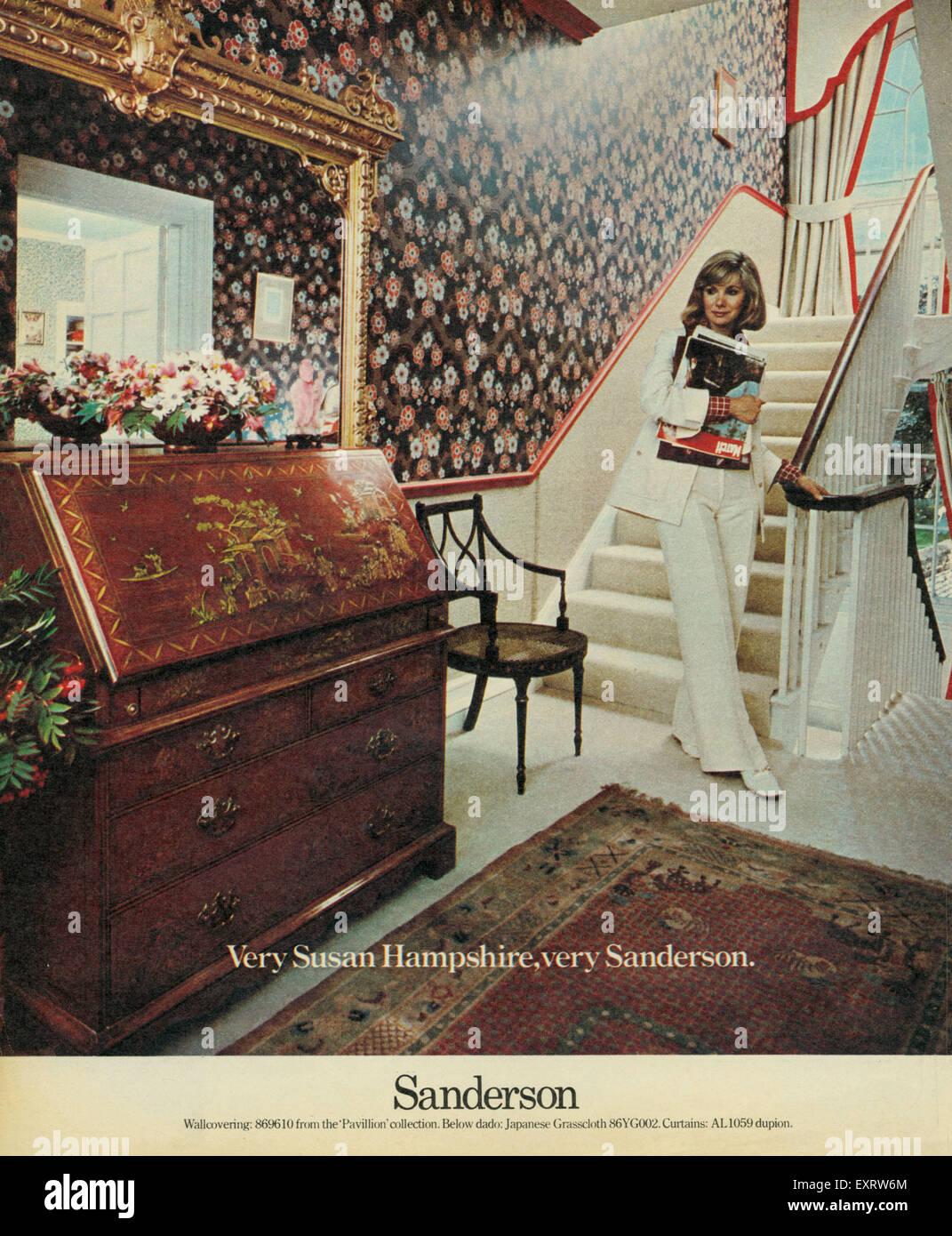 1970s Uk Sanderson Magazine Advert Stock Photos & 1970s Uk ...