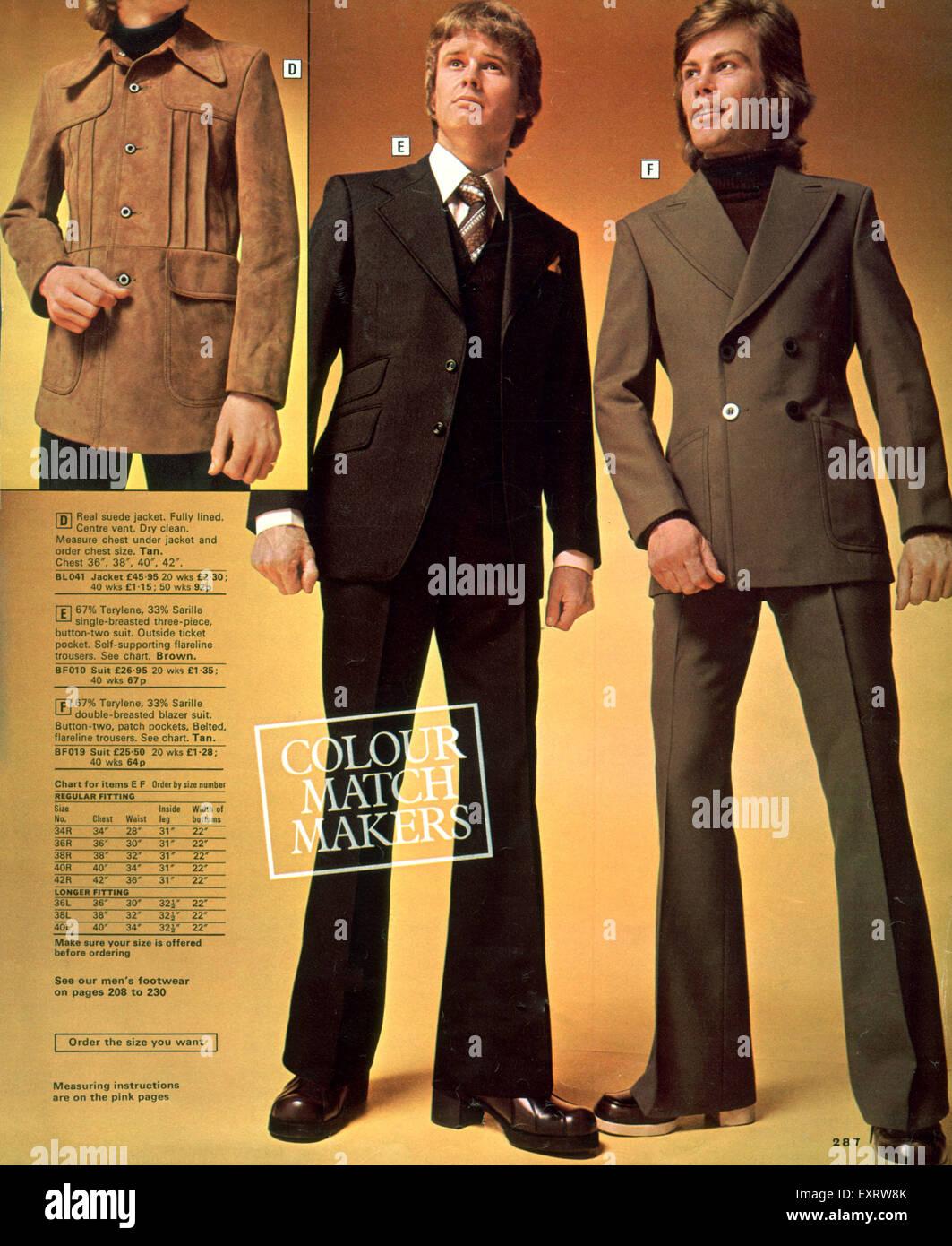 1970s Uk Mens Fashion Catalogue Stock Photos & 1970s Uk ...