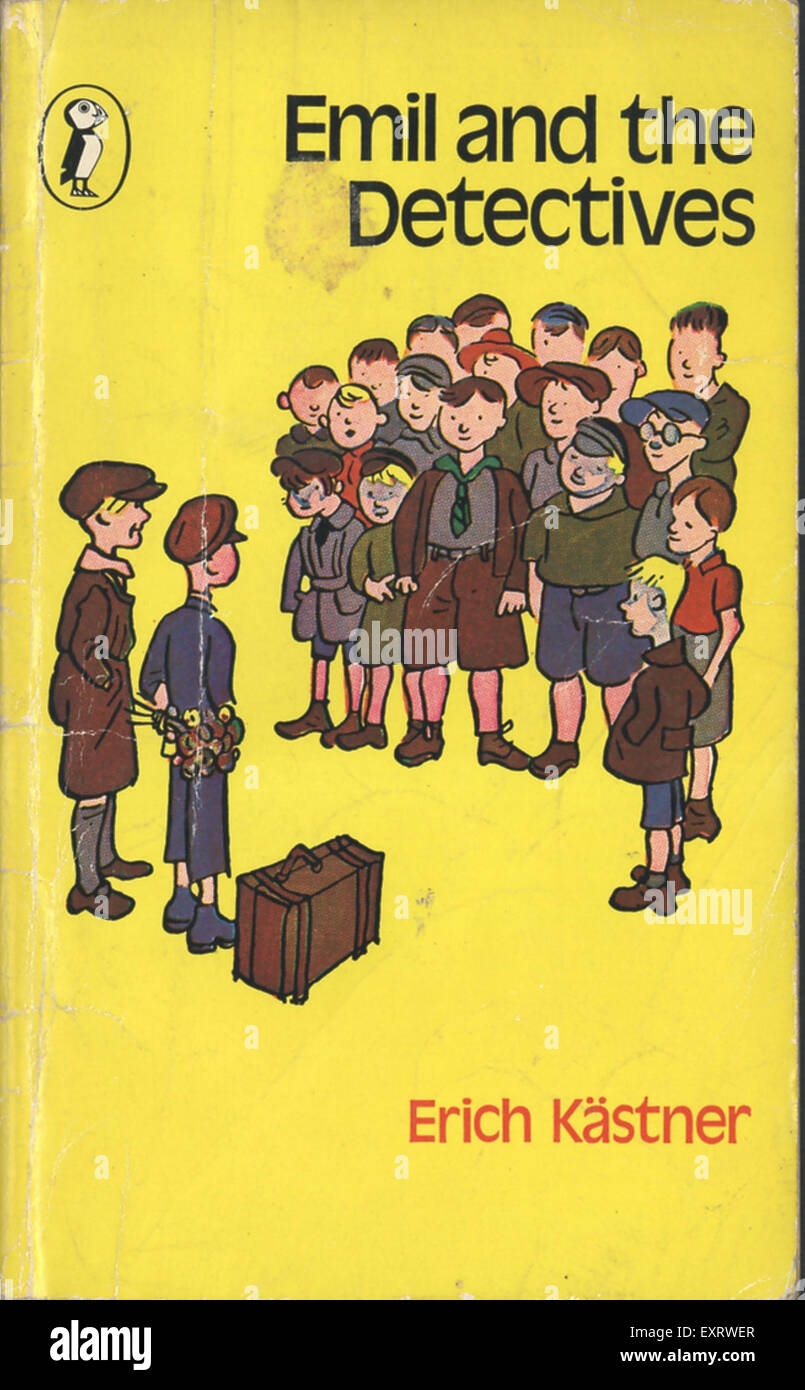 1960s UK Emil and the Detectives Book Cover - Stock Image