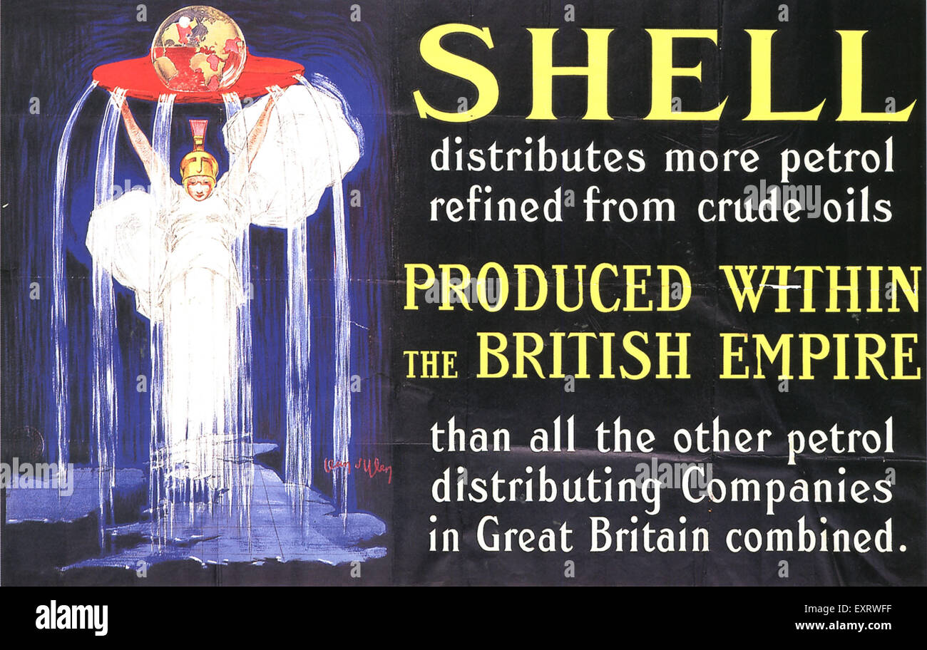 1930s UK Shell Poster - Stock Image