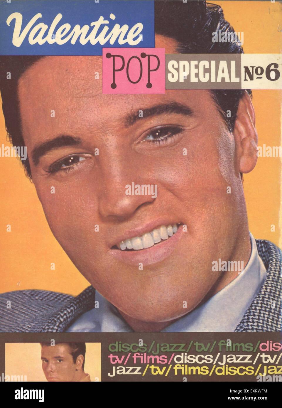 1960s UK Valentine Magazine Cover - Stock Image