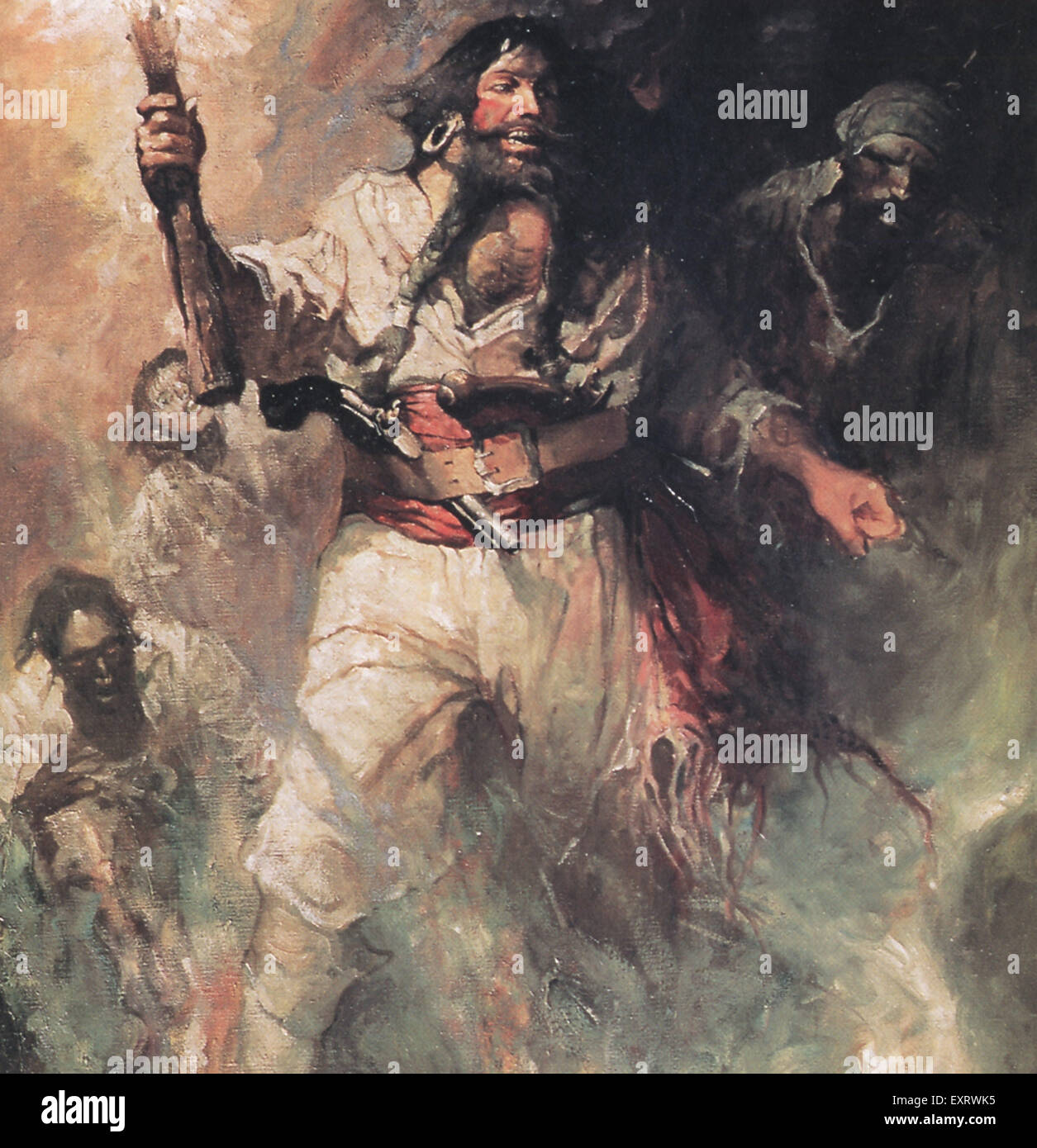 USA Pirates Book Plate - Stock Image