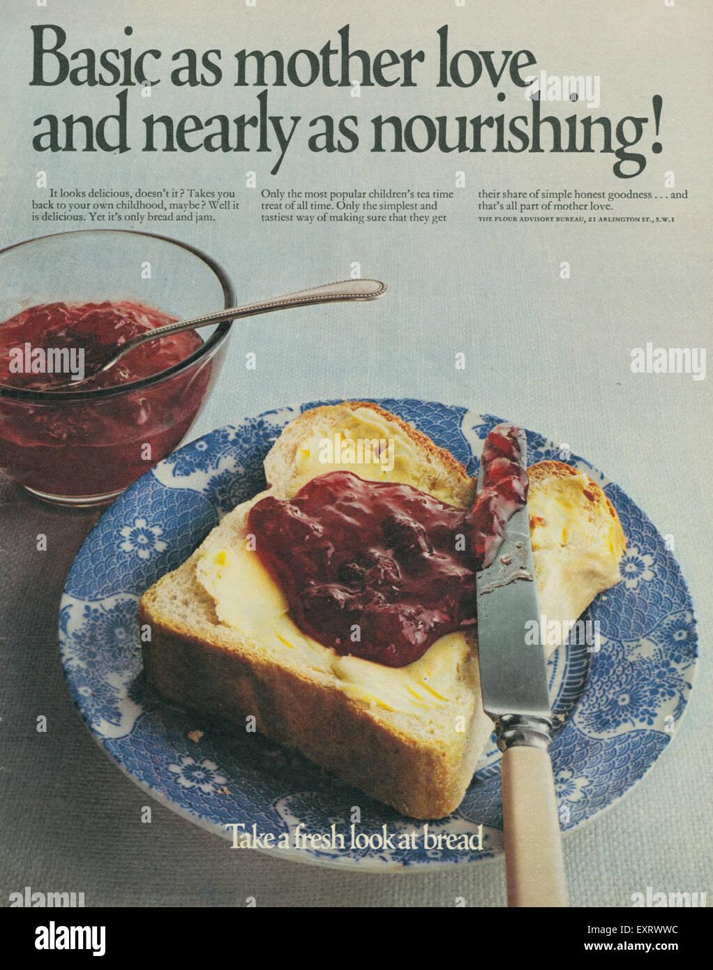 1970s UK The Flour Advisory Bureau Magazine Advert Stock Photo