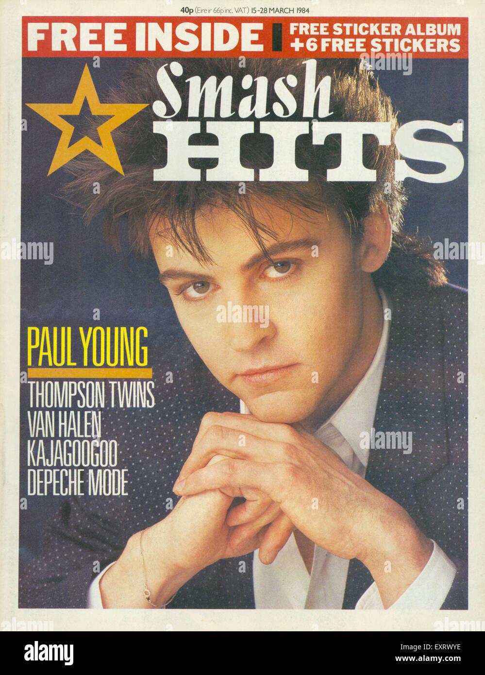 1980s Uk Smash Hits Magazine Cover Stock Photo Alamy
