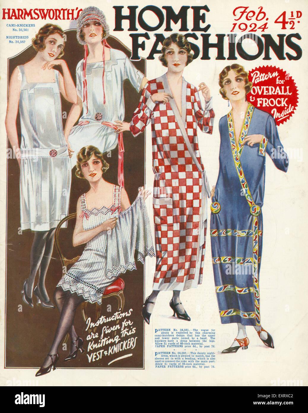 1920s Uk Harmsworth S Home Fashion Magazine Cover Stock Photo Alamy