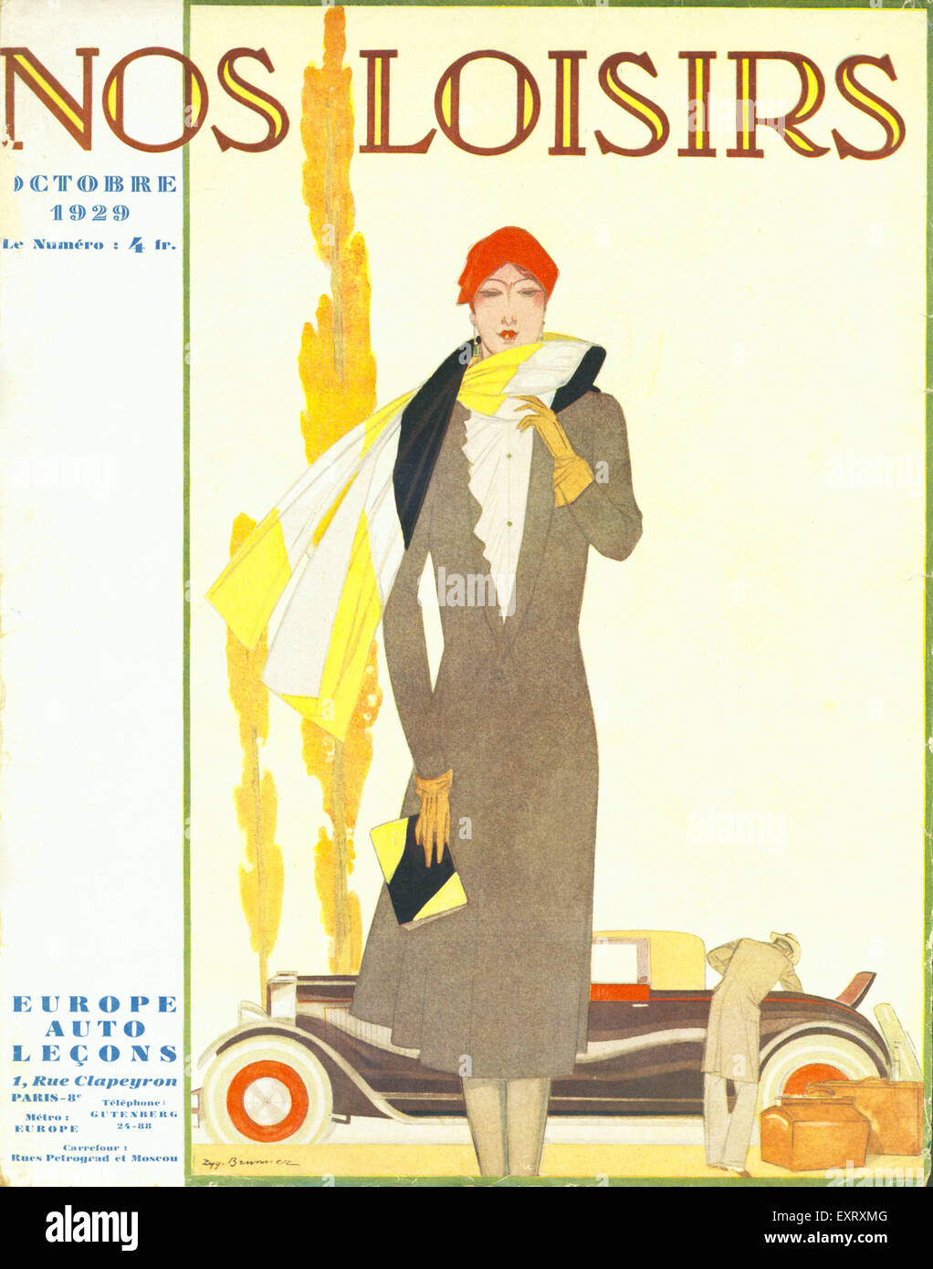 1920s France Nos Loisirs Magazine Cover - Stock Image