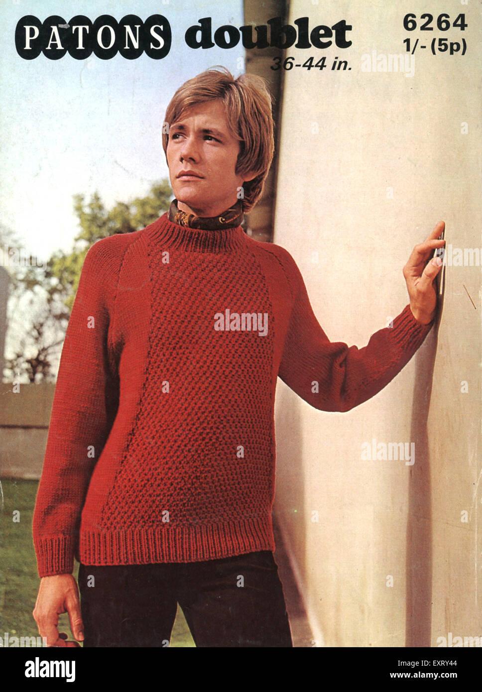 1970s UK Patons Knitting Patterns Stock Photo: 85348708 - Alamy