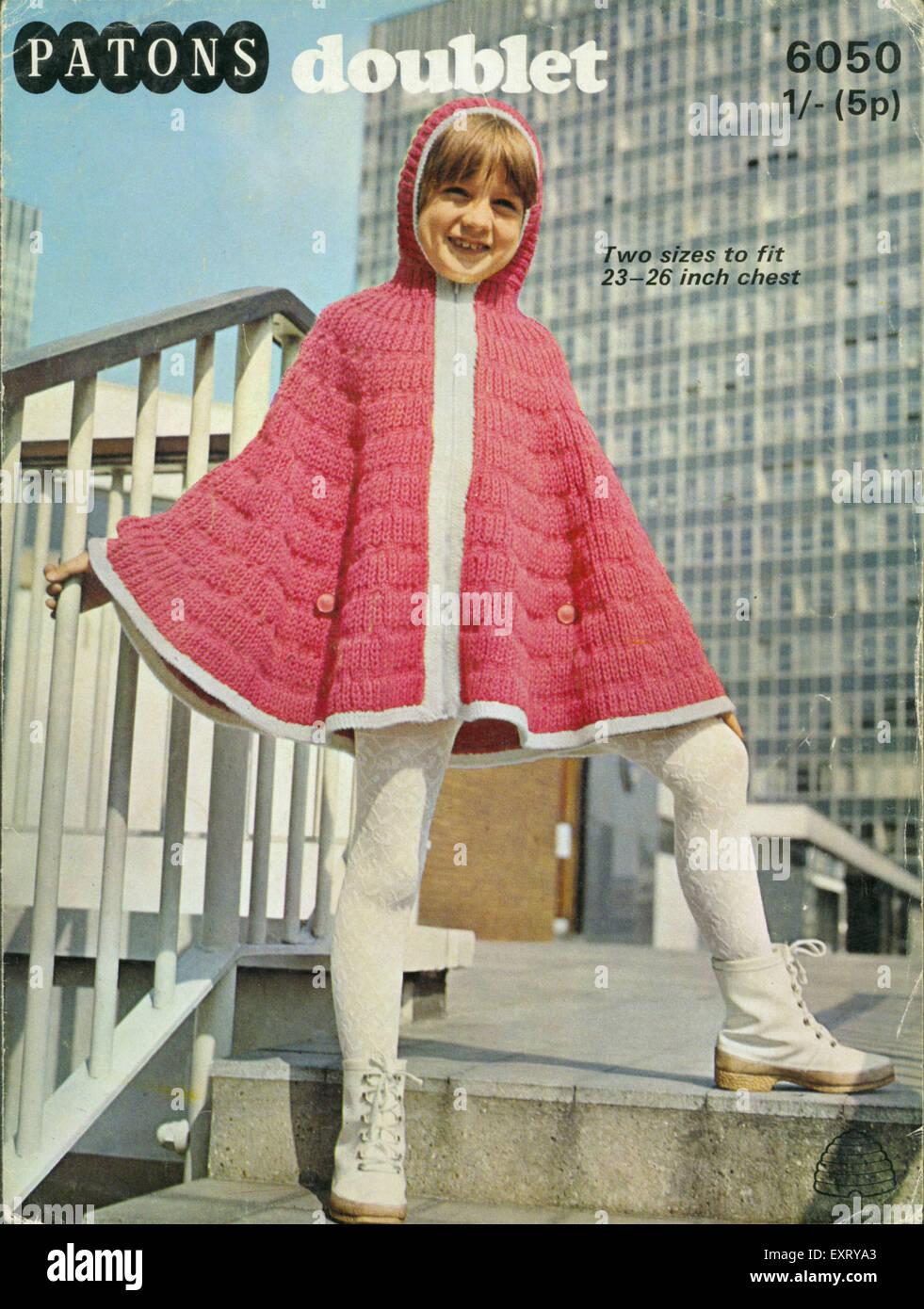 1970s UK Patons Knitting Patterns Stock Photo: 85348875 - Alamy