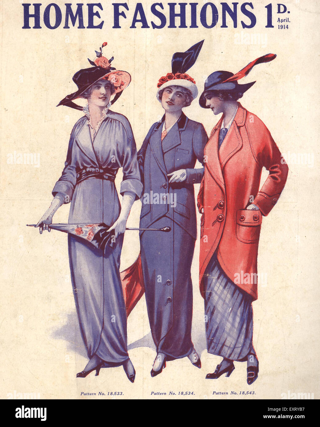 1910s Uk Home Fashion Magazine Advert Stock Photo