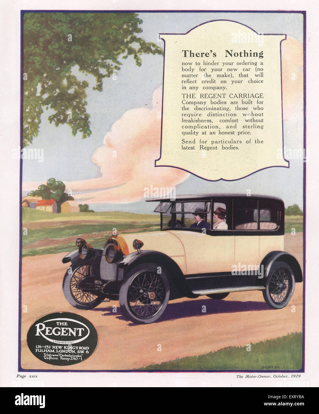 1910s UK The Regent Magazine Advert - Stock Image