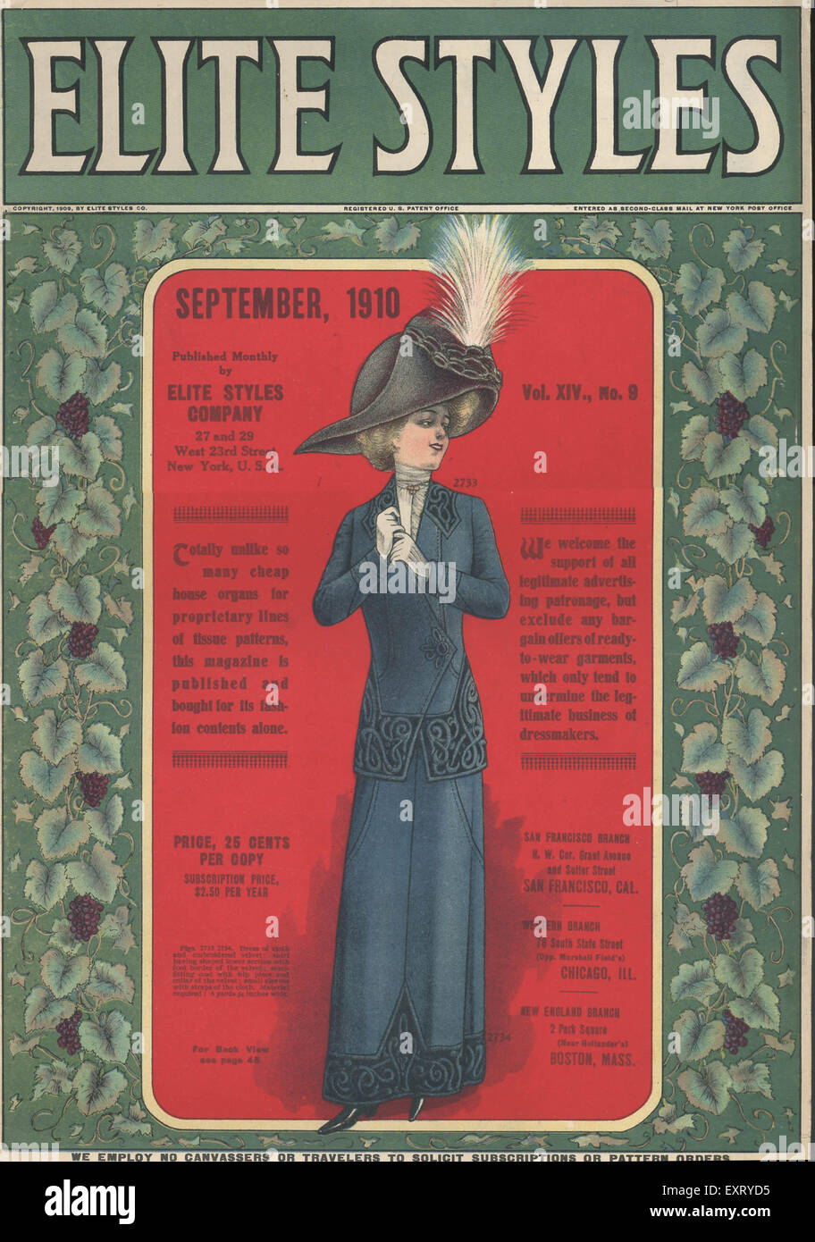 1910s USA Elite Styles Magazine Cover - Stock Image