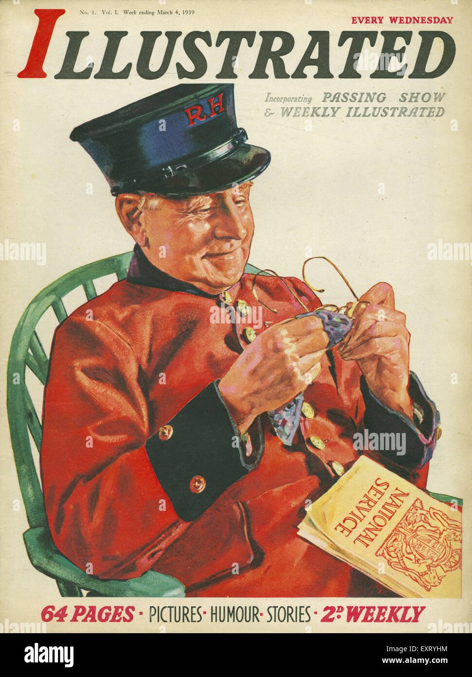 1930s UK Illustrated Magazine Cover - Stock Image
