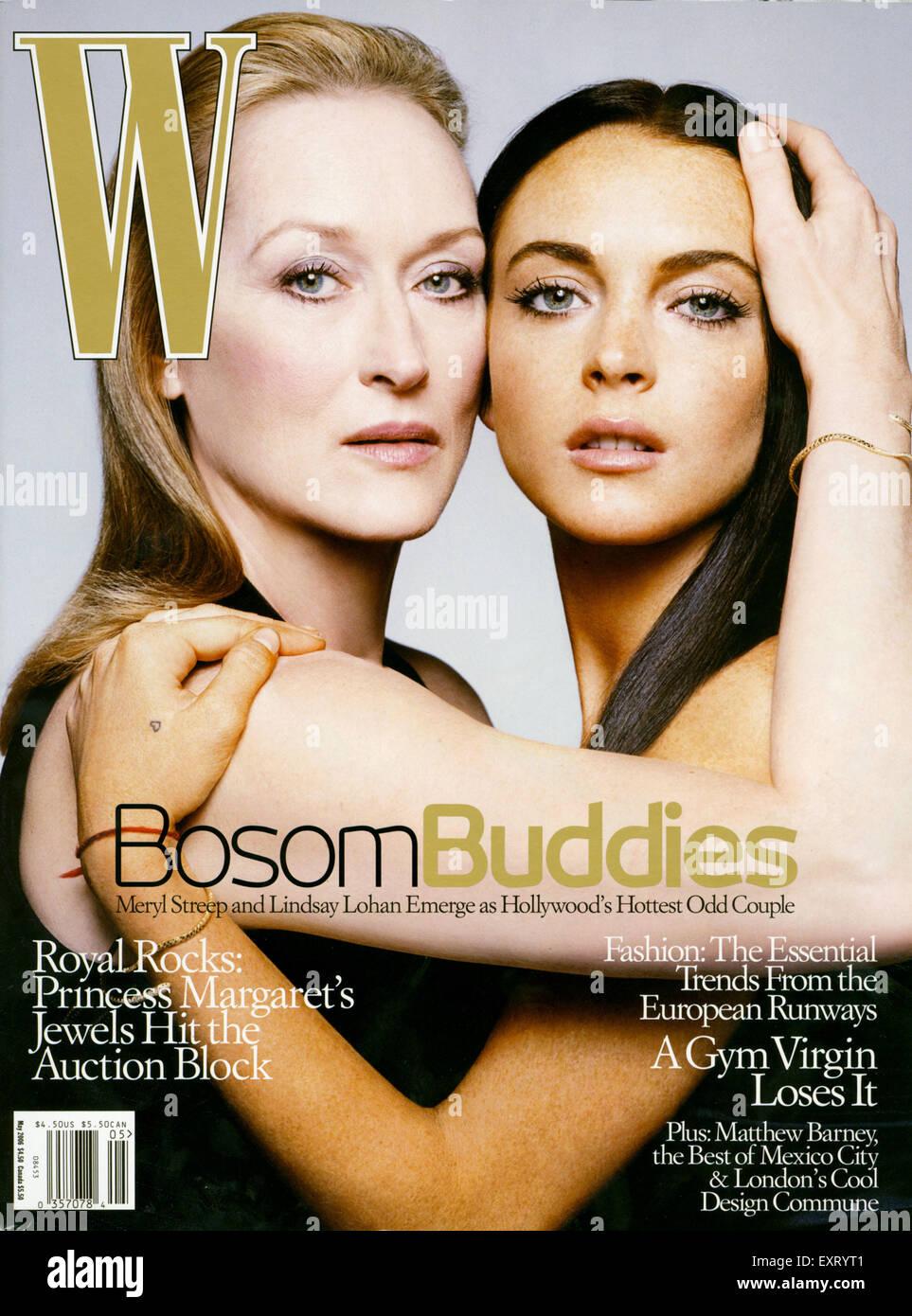 2000s Usa W Magazine Cover Stock Photo Alamy