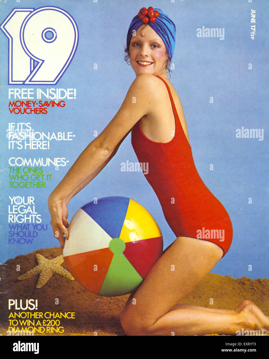1970s USA 19 Magazine Cover - Stock Image