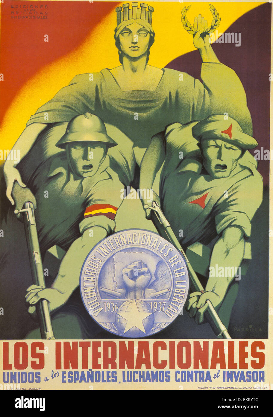 1930s Spain Parilla Poster - Stock Image