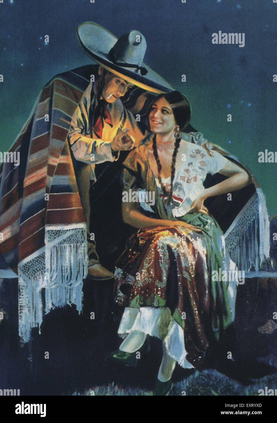 1930s USA Mexico Poster - Stock Image