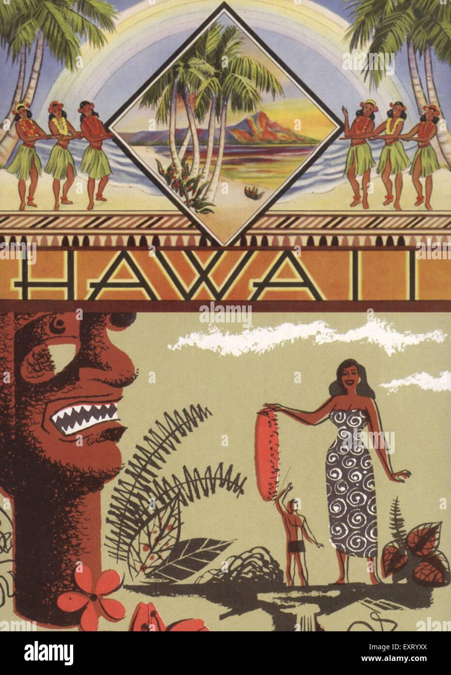 1930s USA Hawaii Postcard - Stock Image