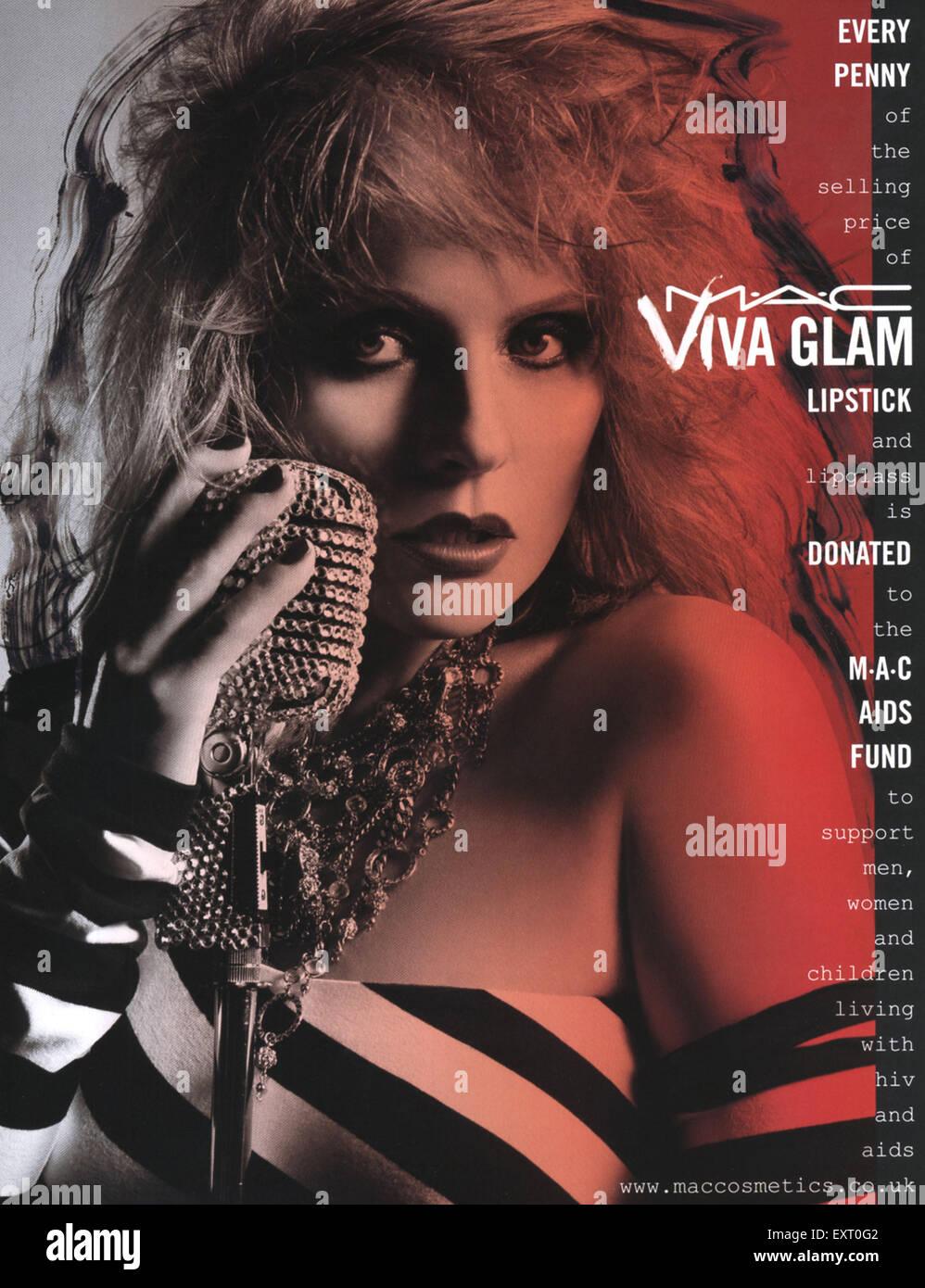 2000s UK MAC Viva Glam, M.A.C Magazine Advert - Stock Image