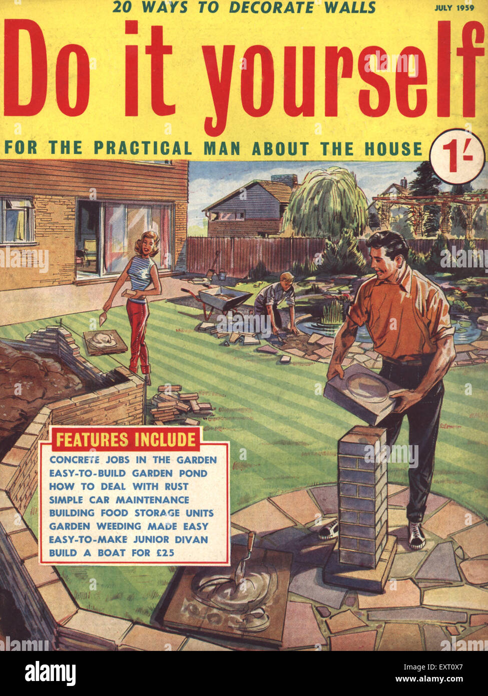 1950s uk do it yourself magazine cover stock photo 85350111 alamy 1950s uk do it yourself magazine cover solutioingenieria Gallery