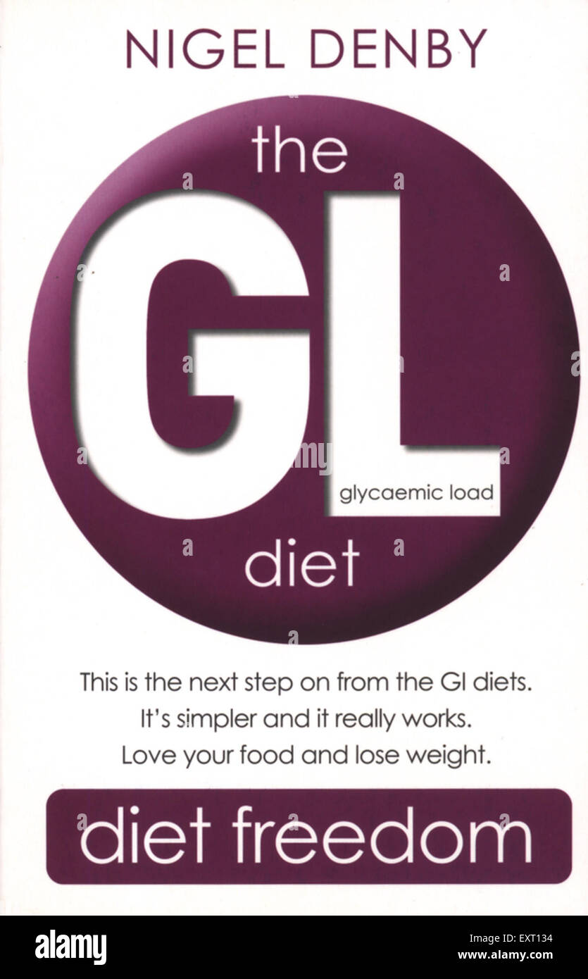 2000s UK The GL Diet by Nigel Denby Book Cover - Stock Image