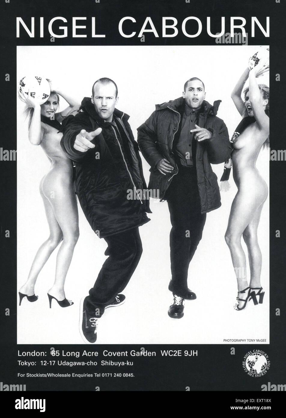 1990s UK Nigel Cabourn Magazine Advert - Stock Image