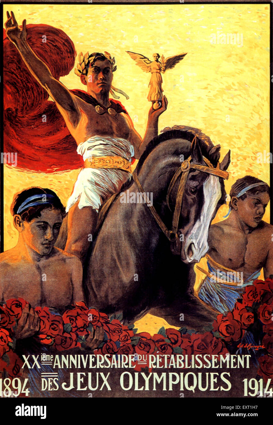 1910s France Olympic Games Poster - Stock Image