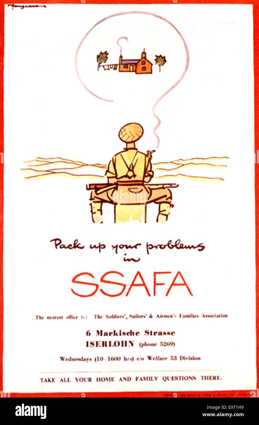 1940s UK SSAFA Poster - Stock Image