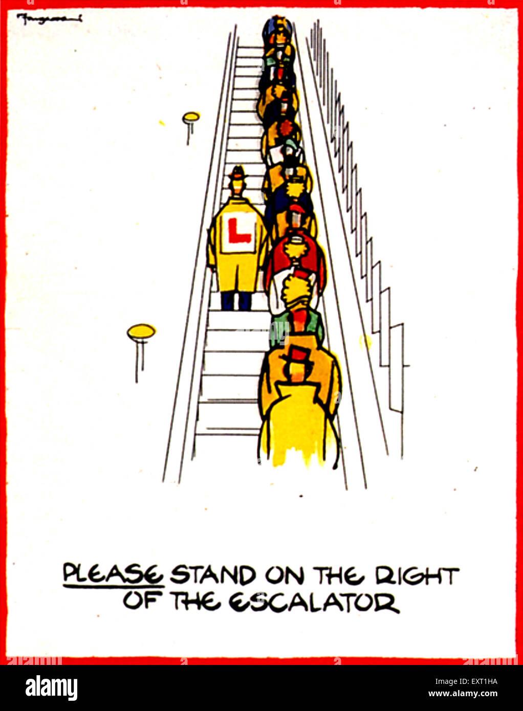 1940s UK London Underground Poster - Stock Image