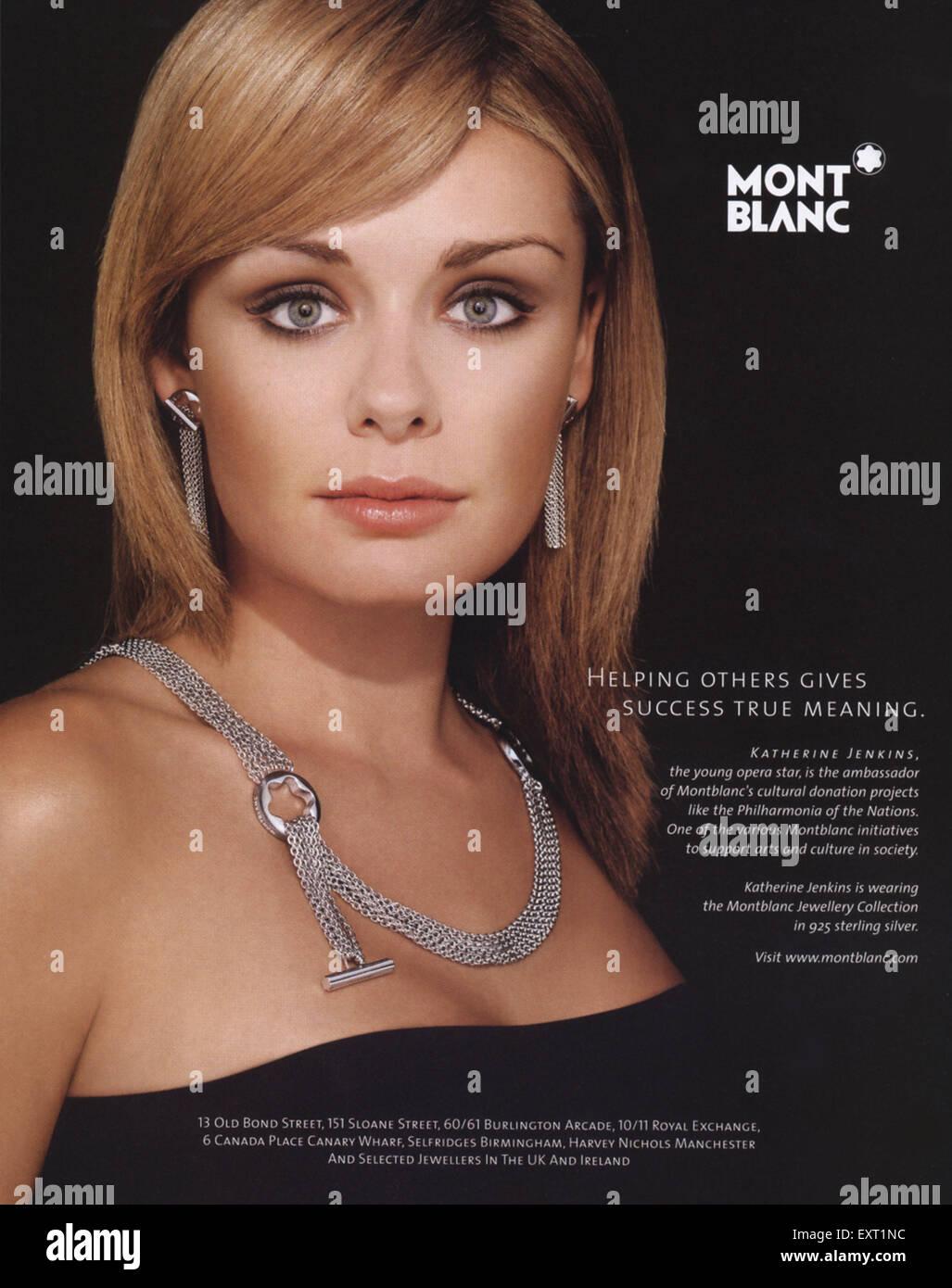 2000s UK Mont Blanc Magazine Advert - Stock Image