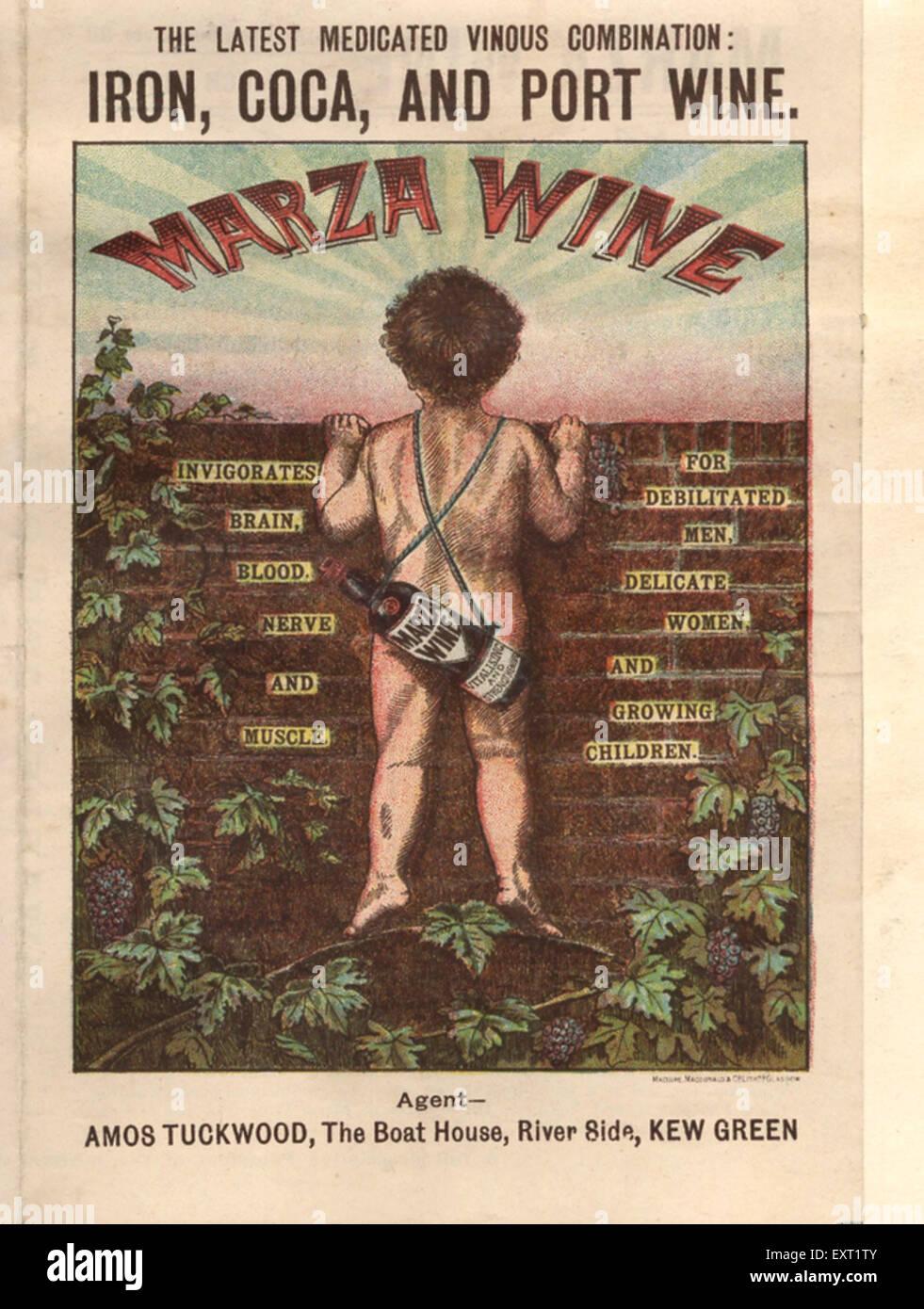 1900s UK Amos Tuckwood Magazine Advert - Stock Image