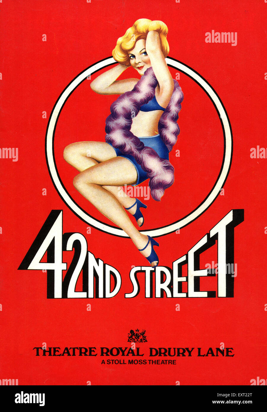 1980s UK 42nd Street Poster - Stock Image