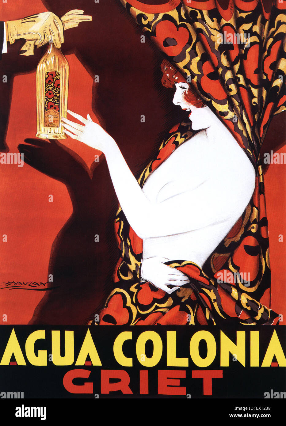 1910s Italy Agua Colonia Griet Poster - Stock Image